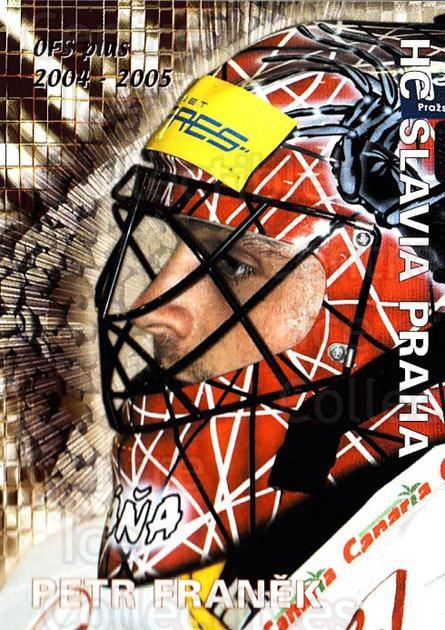 2004-05 Czech OFS Save Percentage Leaders #4 Petr Franek<br/>2 In Stock - $2.00 each - <a href=https://centericecollectibles.foxycart.com/cart?name=2004-05%20Czech%20OFS%20Save%20Percentage%20Leaders%20%234%20Petr%20Franek...&price=$2.00&code=276236 class=foxycart> Buy it now! </a>