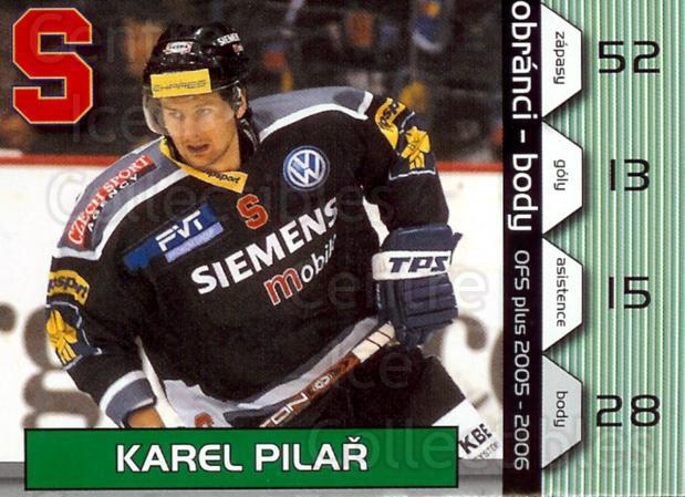 2005-06 Czech OFS Defence Points #4 Karel Pilar<br/>1 In Stock - $2.00 each - <a href=https://centericecollectibles.foxycart.com/cart?name=2005-06%20Czech%20OFS%20Defence%20Points%20%234%20Karel%20Pilar...&quantity_max=1&price=$2.00&code=276254 class=foxycart> Buy it now! </a>