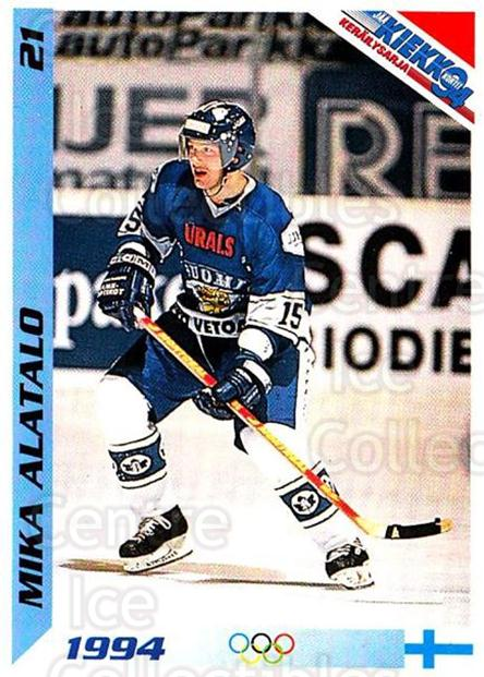 1994 Finnish Jaa Kiekko #21 Mika Alatalo<br/>4 In Stock - $2.00 each - <a href=https://centericecollectibles.foxycart.com/cart?name=1994%20Finnish%20Jaa%20Kiekko%20%2321%20Mika%20Alatalo...&quantity_max=4&price=$2.00&code=2762 class=foxycart> Buy it now! </a>