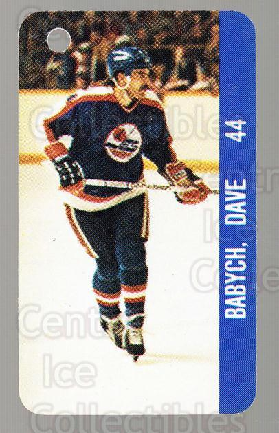 1983-84 NHL Key Tags #140 Dave Babych, NHLPA Logo<br/>15 In Stock - $2.00 each - <a href=https://centericecollectibles.foxycart.com/cart?name=1983-84%20NHL%20Key%20Tags%20%23140%20Dave%20Babych,%20NH...&quantity_max=15&price=$2.00&code=27635 class=foxycart> Buy it now! </a>