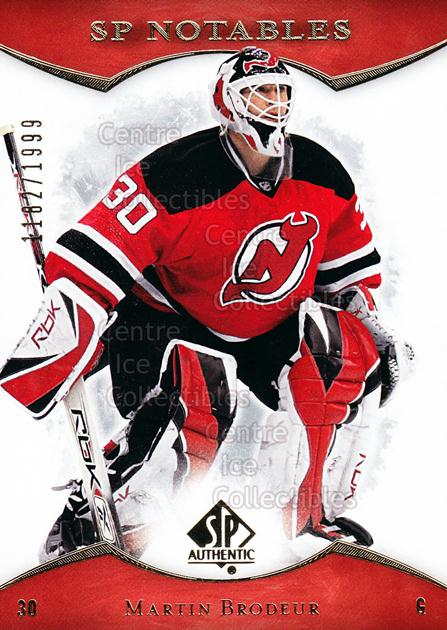 2007-08 SP Authentic #129 Martin Brodeur<br/>2 In Stock - $3.00 each - <a href=https://centericecollectibles.foxycart.com/cart?name=2007-08%20SP%20Authentic%20%23129%20Martin%20Brodeur...&price=$3.00&code=276481 class=foxycart> Buy it now! </a>