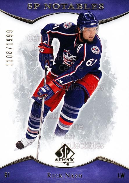2007-08 SP Authentic #144 Rick Nash<br/>2 In Stock - $2.00 each - <a href=https://centericecollectibles.foxycart.com/cart?name=2007-08%20SP%20Authentic%20%23144%20Rick%20Nash...&quantity_max=2&price=$2.00&code=276496 class=foxycart> Buy it now! </a>