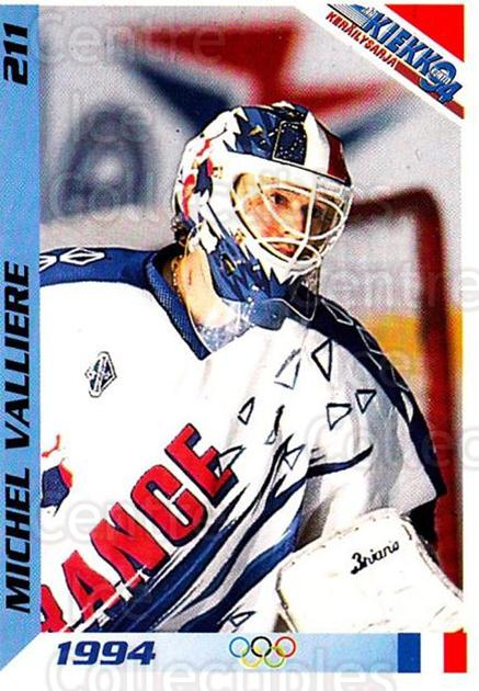 1994 Finnish Jaa Kiekko #211 Michel Valliere<br/>2 In Stock - $2.00 each - <a href=https://centericecollectibles.foxycart.com/cart?name=1994%20Finnish%20Jaa%20Kiekko%20%23211%20Michel%20Valliere...&quantity_max=2&price=$2.00&code=2764 class=foxycart> Buy it now! </a>