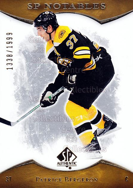 2007-08 SP Authentic #156 Patrice Bergeron<br/>1 In Stock - $2.00 each - <a href=https://centericecollectibles.foxycart.com/cart?name=2007-08%20SP%20Authentic%20%23156%20Patrice%20Bergero...&quantity_max=1&price=$2.00&code=276508 class=foxycart> Buy it now! </a>