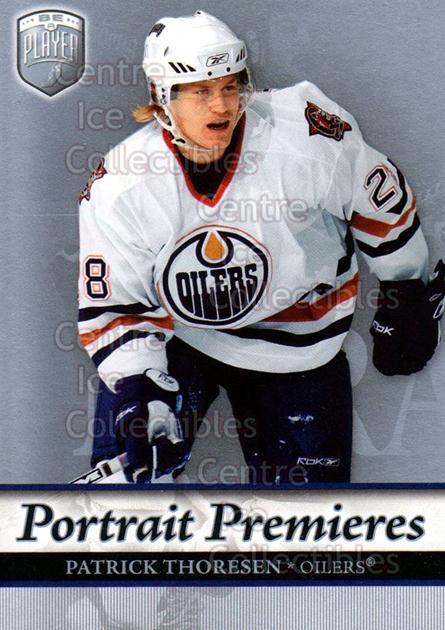2006-07 Be A Player Portraits #104 Patrick Thoresen<br/>12 In Stock - $2.00 each - <a href=https://centericecollectibles.foxycart.com/cart?name=2006-07%20Be%20A%20Player%20Portraits%20%23104%20Patrick%20Thorese...&quantity_max=12&price=$2.00&code=276616 class=foxycart> Buy it now! </a>