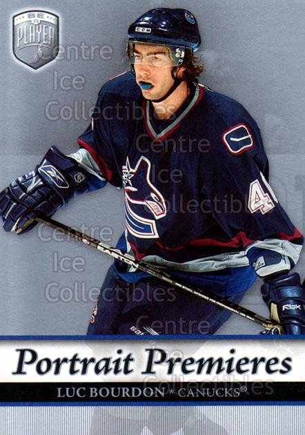2006-07 Be A Player Portraits #110 Luc Bourdon<br/>11 In Stock - $2.00 each - <a href=https://centericecollectibles.foxycart.com/cart?name=2006-07%20Be%20A%20Player%20Portraits%20%23110%20Luc%20Bourdon...&quantity_max=11&price=$2.00&code=276622 class=foxycart> Buy it now! </a>