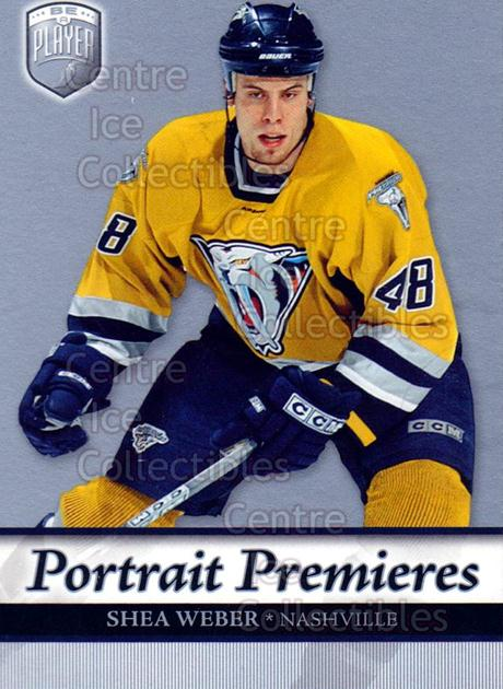 2006-07 Be A Player Portraits #111 Shea Weber<br/>10 In Stock - $2.00 each - <a href=https://centericecollectibles.foxycart.com/cart?name=2006-07%20Be%20A%20Player%20Portraits%20%23111%20Shea%20Weber...&quantity_max=10&price=$2.00&code=276623 class=foxycart> Buy it now! </a>