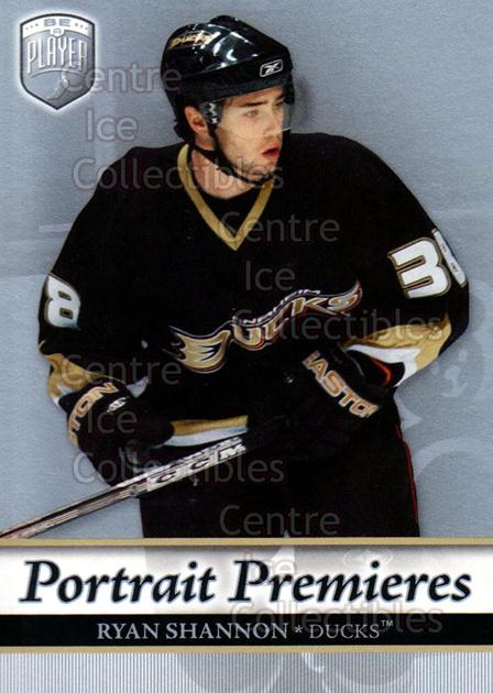 2006-07 Be A Player Portraits #121 Ryan Shannon<br/>13 In Stock - $2.00 each - <a href=https://centericecollectibles.foxycart.com/cart?name=2006-07%20Be%20A%20Player%20Portraits%20%23121%20Ryan%20Shannon...&quantity_max=13&price=$2.00&code=276633 class=foxycart> Buy it now! </a>