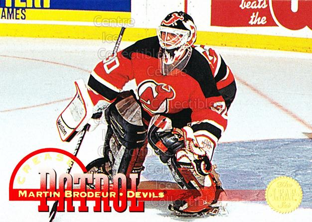 1994-95 Leaf Crease Patrol #9 Martin Brodeur<br/>12 In Stock - $2.00 each - <a href=https://centericecollectibles.foxycart.com/cart?name=1994-95%20Leaf%20Crease%20Patrol%20%239%20Martin%20Brodeur...&price=$2.00&code=276644 class=foxycart> Buy it now! </a>