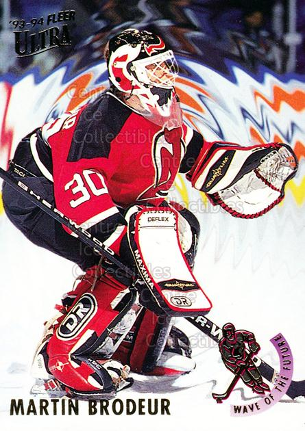 1993-94 Ultra Wave of the Future #2 Martin Brodeur<br/>14 In Stock - $5.00 each - <a href=https://centericecollectibles.foxycart.com/cart?name=1993-94%20Ultra%20Wave%20of%20the%20Future%20%232%20Martin%20Brodeur...&price=$5.00&code=276651 class=foxycart> Buy it now! </a>
