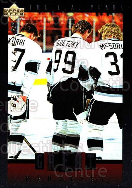 1995-96 Be A Player Great Memories #9 Wayne Gretzky, Jari Kurri, Marty McSorley<br/>1 In Stock - $5.00 each - <a href=https://centericecollectibles.foxycart.com/cart?name=1995-96%20Be%20A%20Player%20Great%20Memories%20%239%20Wayne%20Gretzky,%20...&quantity_max=1&price=$5.00&code=276665 class=foxycart> Buy it now! </a>