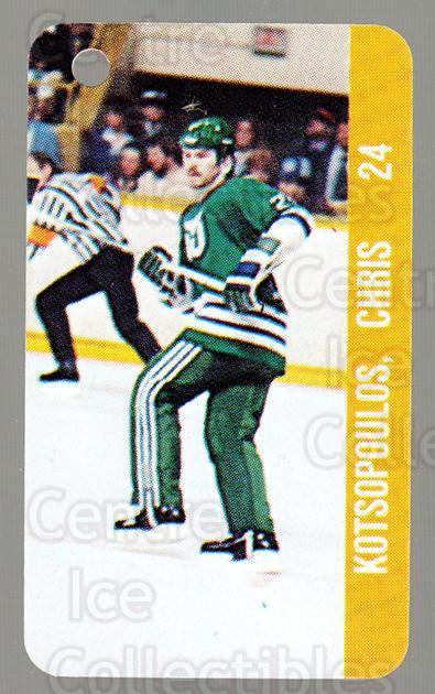 1983-84 NHL Key Tags #46 Chris Kotsopoulos, Mark Renaud<br/>11 In Stock - $2.00 each - <a href=https://centericecollectibles.foxycart.com/cart?name=1983-84%20NHL%20Key%20Tags%20%2346%20Chris%20Kotsopoul...&quantity_max=11&price=$2.00&code=27667 class=foxycart> Buy it now! </a>
