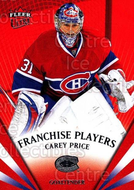 2008-09 Ultra Franchise Players #8 Carey Price<br/>1 In Stock - $5.00 each - <a href=https://centericecollectibles.foxycart.com/cart?name=2008-09%20Ultra%20Franchise%20Players%20%238%20Carey%20Price...&quantity_max=1&price=$5.00&code=276700 class=foxycart> Buy it now! </a>