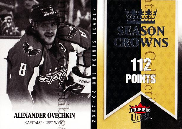 2008-09 Ultra Season Crowns #3 Alexander Ovechkin<br/>4 In Stock - $2.00 each - <a href=https://centericecollectibles.foxycart.com/cart?name=2008-09%20Ultra%20Season%20Crowns%20%233%20Alexander%20Ovech...&price=$2.00&code=276705 class=foxycart> Buy it now! </a>