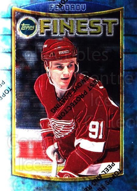 1994-95 Finest #65 Sergei Fedorov<br/>2 In Stock - $1.00 each - <a href=https://centericecollectibles.foxycart.com/cart?name=1994-95%20Finest%20%2365%20Sergei%20Fedorov...&quantity_max=2&price=$1.00&code=276852 class=foxycart> Buy it now! </a>