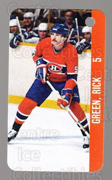 1983-84 NHL Key Tags #64 Montreal Canadiens, Rick Green<br/>13 In Stock - $2.00 each - <a href=https://centericecollectibles.foxycart.com/cart?name=1983-84%20NHL%20Key%20Tags%20%2364%20Montreal%20Canadi...&quantity_max=13&price=$2.00&code=27685 class=foxycart> Buy it now! </a>