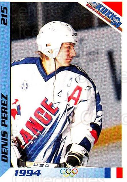 1994 Finnish Jaa Kiekko #215 Denis Perez<br/>1 In Stock - $2.00 each - <a href=https://centericecollectibles.foxycart.com/cart?name=1994%20Finnish%20Jaa%20Kiekko%20%23215%20Denis%20Perez...&quantity_max=1&price=$2.00&code=2768 class=foxycart> Buy it now! </a>