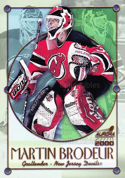 1999-00 Aurora Championship Fever #15 Martin Brodeur<br/>3 In Stock - $2.00 each - <a href=https://centericecollectibles.foxycart.com/cart?name=1999-00%20Aurora%20Championship%20Fever%20%2315%20Martin%20Brodeur...&price=$2.00&code=277020 class=foxycart> Buy it now! </a>