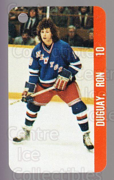 1983-84 NHL Key Tags #87 Ron Duguay, Don Maloney<br/>13 In Stock - $2.00 each - <a href=https://centericecollectibles.foxycart.com/cart?name=1983-84%20NHL%20Key%20Tags%20%2387%20Ron%20Duguay,%20Don...&quantity_max=13&price=$2.00&code=27708 class=foxycart> Buy it now! </a>