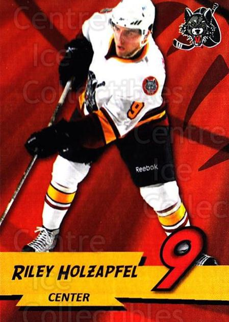 2010-11 Chicago Wolves #8 Riley Holzapfel<br/>2 In Stock - $3.00 each - <a href=https://centericecollectibles.foxycart.com/cart?name=2010-11%20Chicago%20Wolves%20%238%20Riley%20Holzapfel...&quantity_max=2&price=$3.00&code=277393 class=foxycart> Buy it now! </a>