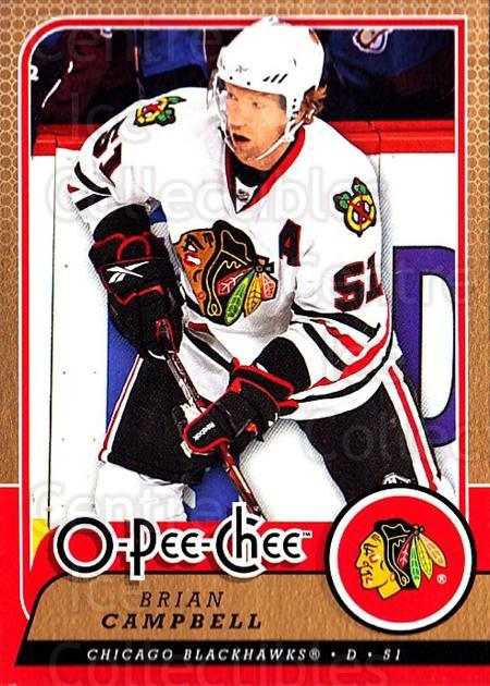 2008-09 O-Pee-chee #615 Brian Campbell<br/>1 In Stock - $1.00 each - <a href=https://centericecollectibles.foxycart.com/cart?name=2008-09%20O-Pee-chee%20%23615%20Brian%20Campbell...&quantity_max=1&price=$1.00&code=277545 class=foxycart> Buy it now! </a>