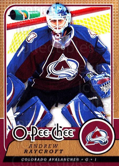 2008-09 O-Pee-chee #619 Andrew Raycroft<br/>1 In Stock - $1.00 each - <a href=https://centericecollectibles.foxycart.com/cart?name=2008-09%20O-Pee-chee%20%23619%20Andrew%20Raycroft...&quantity_max=1&price=$1.00&code=277549 class=foxycart> Buy it now! </a>