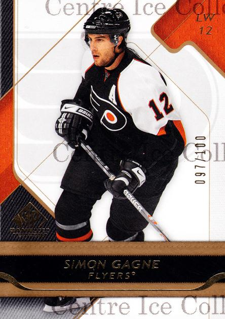 2008-09 Sp Game Used Gold #75 Simon Gagne<br/>1 In Stock - $5.00 each - <a href=https://centericecollectibles.foxycart.com/cart?name=2008-09%20Sp%20Game%20Used%20Gold%20%2375%20Simon%20Gagne...&quantity_max=1&price=$5.00&code=277879 class=foxycart> Buy it now! </a>