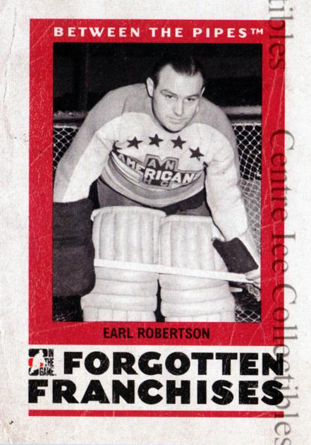 2006-07 Between The Pipes Forgotten Franchises #6 Earl Robertson<br/>1 In Stock - $3.00 each - <a href=https://centericecollectibles.foxycart.com/cart?name=2006-07%20Between%20The%20Pipes%20Forgotten%20Franchises%20%236%20Earl%20Robertson...&price=$3.00&code=278000 class=foxycart> Buy it now! </a>