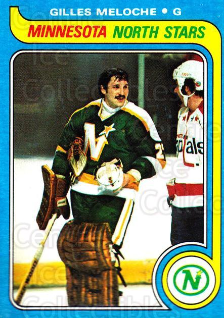 1979-80 Topps #136 Gilles Meloche<br/>4 In Stock - $1.00 each - <a href=https://centericecollectibles.foxycart.com/cart?name=1979-80%20Topps%20%23136%20Gilles%20Meloche...&quantity_max=4&price=$1.00&code=278011 class=foxycart> Buy it now! </a>