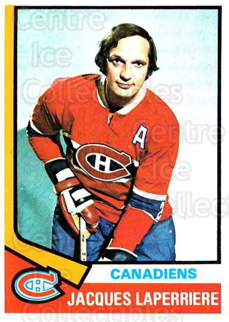 1974-75 Topps #202 Jacques Laperriere<br/>2 In Stock - $2.00 each - <a href=https://centericecollectibles.foxycart.com/cart?name=1974-75%20Topps%20%23202%20Jacques%20Laperri...&quantity_max=2&price=$2.00&code=278221 class=foxycart> Buy it now! </a>