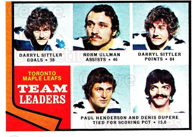 1974-75 Topps #219 Darryl Sittler, Norm Ullman, Paul Henderson, Denis Dupere<br/>3 In Stock - $3.00 each - <a href=https://centericecollectibles.foxycart.com/cart?name=1974-75%20Topps%20%23219%20Darryl%20Sittler,...&quantity_max=3&price=$3.00&code=278238 class=foxycart> Buy it now! </a>