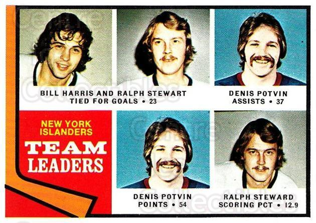 1974-75 Topps #233 Bill Harris, Ralph Stewart, Denis Potvin<br/>2 In Stock - $2.00 each - <a href=https://centericecollectibles.foxycart.com/cart?name=1974-75%20Topps%20%23233%20Bill%20Harris,%20Ra...&quantity_max=2&price=$2.00&code=278252 class=foxycart> Buy it now! </a>