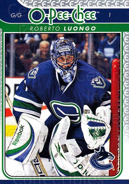 2009-10 O-pee-chee #1 Roberto Luongo<br/>3 In Stock - $2.00 each - <a href=https://centericecollectibles.foxycart.com/cart?name=2009-10%20O-pee-chee%20%231%20Roberto%20Luongo...&quantity_max=3&price=$2.00&code=278343 class=foxycart> Buy it now! </a>