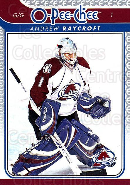 2009-10 O-pee-chee #82 Andrew Raycroft<br/>3 In Stock - $1.00 each - <a href=https://centericecollectibles.foxycart.com/cart?name=2009-10%20O-pee-chee%20%2382%20Andrew%20Raycroft...&quantity_max=3&price=$1.00&code=278424 class=foxycart> Buy it now! </a>