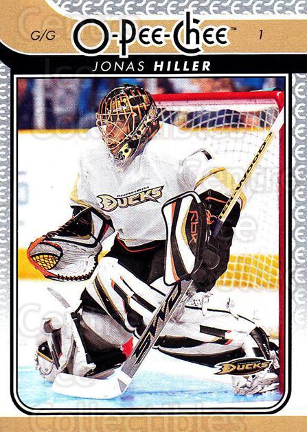2009-10 O-pee-chee #97 Jonas Hiller<br/>2 In Stock - $1.00 each - <a href=https://centericecollectibles.foxycart.com/cart?name=2009-10%20O-pee-chee%20%2397%20Jonas%20Hiller...&quantity_max=2&price=$1.00&code=278439 class=foxycart> Buy it now! </a>