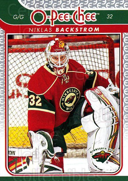 2009-10 O-pee-chee #106 Niklas Backstrom<br/>4 In Stock - $1.00 each - <a href=https://centericecollectibles.foxycart.com/cart?name=2009-10%20O-pee-chee%20%23106%20Niklas%20Backstro...&quantity_max=4&price=$1.00&code=278448 class=foxycart> Buy it now! </a>