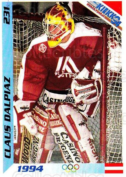 1994 Finnish Jaa Kiekko #231 Claus Dalpiaz<br/>1 In Stock - $2.00 each - <a href=https://centericecollectibles.foxycart.com/cart?name=1994%20Finnish%20Jaa%20Kiekko%20%23231%20Claus%20Dalpiaz...&quantity_max=1&price=$2.00&code=2785 class=foxycart> Buy it now! </a>