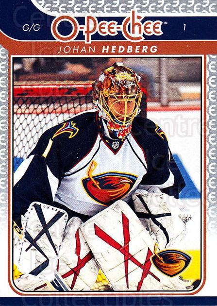 2009-10 O-pee-chee #424 Johan Hedberg<br/>5 In Stock - $1.00 each - <a href=https://centericecollectibles.foxycart.com/cart?name=2009-10%20O-pee-chee%20%23424%20Johan%20Hedberg...&quantity_max=5&price=$1.00&code=278766 class=foxycart> Buy it now! </a>