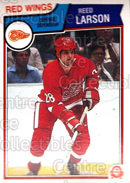 1983-84 O-Pee-Chee #125 Reed Larson<br/>10 In Stock - $1.00 each - <a href=https://centericecollectibles.foxycart.com/cart?name=1983-84%20O-Pee-Chee%20%23125%20Reed%20Larson...&quantity_max=10&price=$1.00&code=27890 class=foxycart> Buy it now! </a>