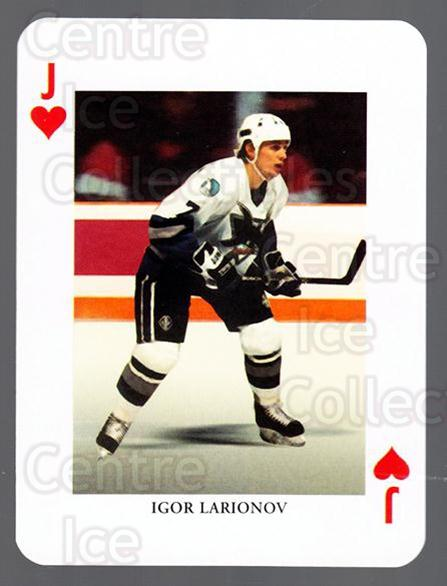 2008-09 Swedish Ice Hockey Playing Card #11 Igor Larionov<br/>6 In Stock - $3.00 each - <a href=https://centericecollectibles.foxycart.com/cart?name=2008-09%20Swedish%20Ice%20Hockey%20Playing%20Card%20%2311%20Igor%20Larionov...&quantity_max=6&price=$3.00&code=279247 class=foxycart> Buy it now! </a>