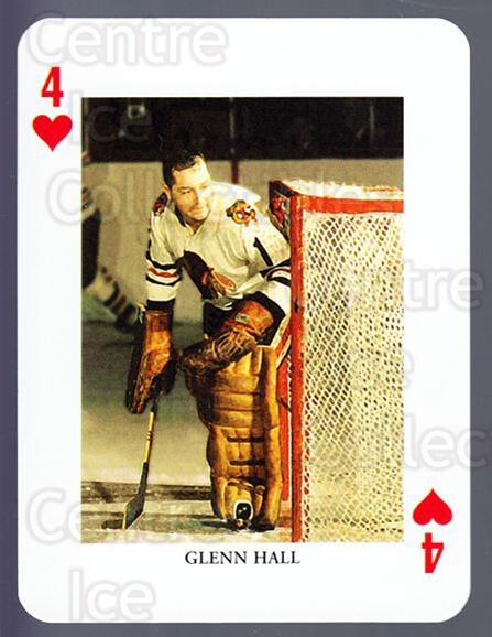2008-09 Swedish Ice Hockey Playing Card #4 Glenn Hall<br/>5 In Stock - $3.00 each - <a href=https://centericecollectibles.foxycart.com/cart?name=2008-09%20Swedish%20Ice%20Hockey%20Playing%20Card%20%234%20Glenn%20Hall...&price=$3.00&code=279254 class=foxycart> Buy it now! </a>