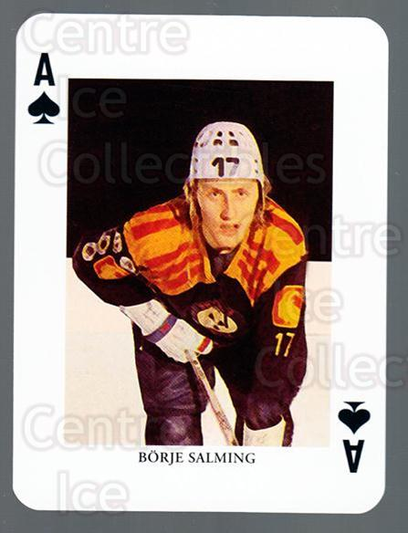 2008-09 Swedish Ice Hockey Playing Card #14 Borje Salming<br/>2 In Stock - $3.00 each - <a href=https://centericecollectibles.foxycart.com/cart?name=2008-09%20Swedish%20Ice%20Hockey%20Playing%20Card%20%2314%20Borje%20Salming...&price=$3.00&code=279257 class=foxycart> Buy it now! </a>