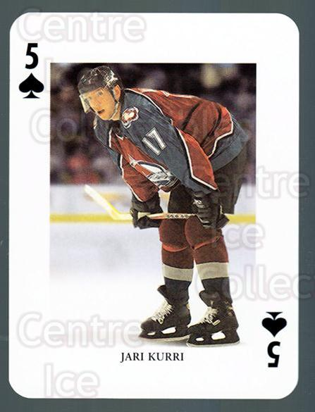 2008-09 Swedish Ice Hockey Playing Card #18 Jari Kurri<br/>5 In Stock - $3.00 each - <a href=https://centericecollectibles.foxycart.com/cart?name=2008-09%20Swedish%20Ice%20Hockey%20Playing%20Card%20%2318%20Jari%20Kurri...&quantity_max=5&price=$3.00&code=279266 class=foxycart> Buy it now! </a>