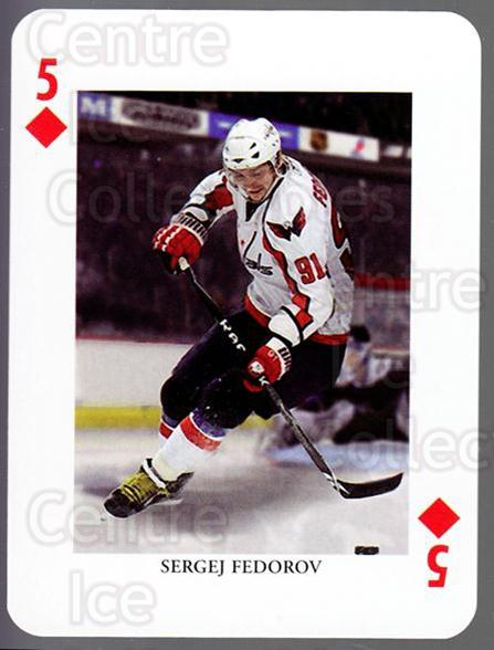 2008-09 Swedish Ice Hockey Playing Card #31 Sergei Fedorov<br/>3 In Stock - $3.00 each - <a href=https://centericecollectibles.foxycart.com/cart?name=2008-09%20Swedish%20Ice%20Hockey%20Playing%20Card%20%2331%20Sergei%20Fedorov...&price=$3.00&code=279279 class=foxycart> Buy it now! </a>