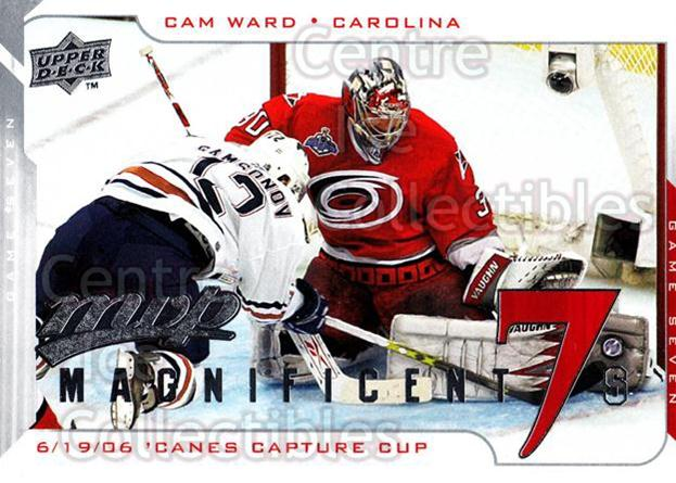 2008-09 Upper Deck MVP Magnificent 7s #CW Cam Ward<br/>2 In Stock - $2.00 each - <a href=https://centericecollectibles.foxycart.com/cart?name=2008-09%20Upper%20Deck%20MVP%20Magnificent%207s%20%23CW%20Cam%20Ward...&price=$2.00&code=279297 class=foxycart> Buy it now! </a>
