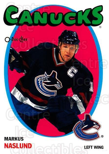 2001-02 O-Pee-Chee Heritage Parallel Insert #15 Markus Naslund<br/>1 In Stock - $2.00 each - <a href=https://centericecollectibles.foxycart.com/cart?name=2001-02%20O-Pee-Chee%20Heritage%20Parallel%20Insert%20%2315%20Markus%20Naslund...&quantity_max=1&price=$2.00&code=279381 class=foxycart> Buy it now! </a>