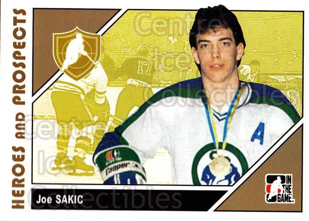 2007-08 ITG Heroes and Prospects #1 Joe Sakic<br/>21 In Stock - $1.00 each - <a href=https://centericecollectibles.foxycart.com/cart?name=2007-08%20ITG%20Heroes%20and%20Prospects%20%231%20Joe%20Sakic...&price=$1.00&code=279502 class=foxycart> Buy it now! </a>