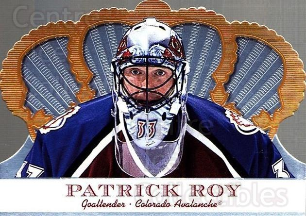 2000-01 Crown Royale #30 Patrick Roy<br/>1 In Stock - $4.00 each - <a href=https://centericecollectibles.foxycart.com/cart?name=2000-01%20Crown%20Royale%20%2330%20Patrick%20Roy...&price=$4.00&code=279538 class=foxycart> Buy it now! </a>
