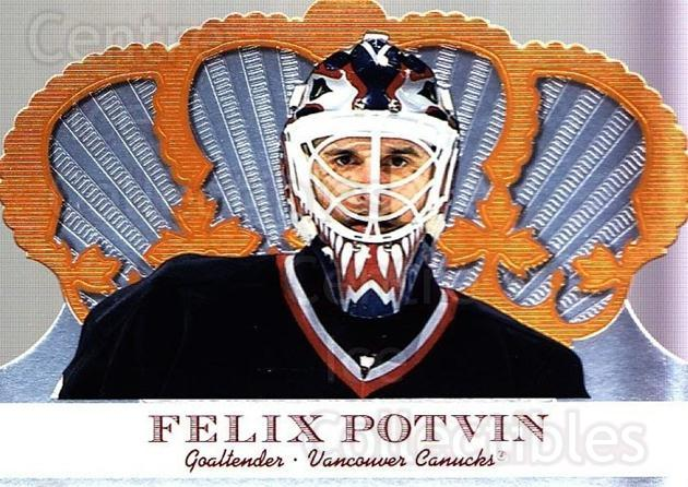 2000-01 Crown Royale #105 Felix Potvin<br/>3 In Stock - $1.00 each - <a href=https://centericecollectibles.foxycart.com/cart?name=2000-01%20Crown%20Royale%20%23105%20Felix%20Potvin...&quantity_max=3&price=$1.00&code=279554 class=foxycart> Buy it now! </a>