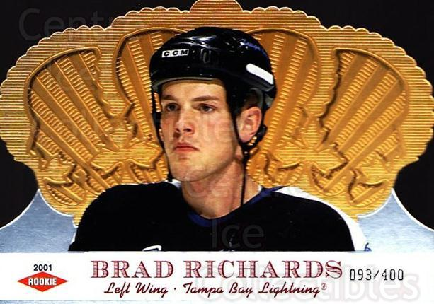 2000-01 Crown Royale #142 Brad Richards<br/>1 In Stock - $10.00 each - <a href=https://centericecollectibles.foxycart.com/cart?name=2000-01%20Crown%20Royale%20%23142%20Brad%20Richards...&quantity_max=1&price=$10.00&code=279562 class=foxycart> Buy it now! </a>